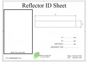 Standard Reflector ID Sheet